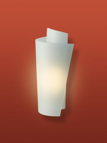 Firstlight WL223SS Satin Steel with Acid Glass Vetro Wall Light